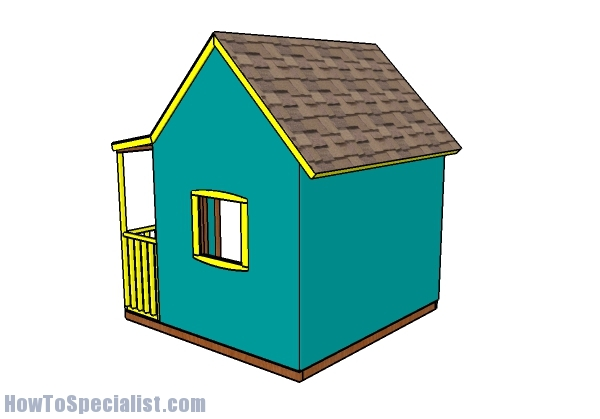 Outdoor Playhouse Plans - Back view