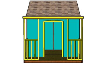 Outdoor Playhouse Plans - Front view