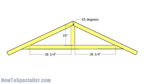 8x10 Shed Roof Plans Howtospecialist How To Build