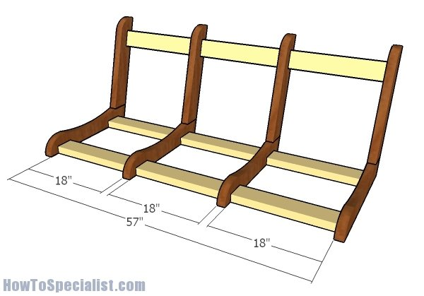 Assembling the porch swing frame