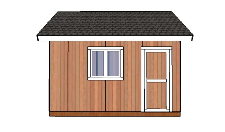 14x14 shed plans - side view