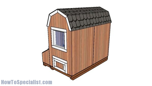4x8 Chicken coop plans - back view