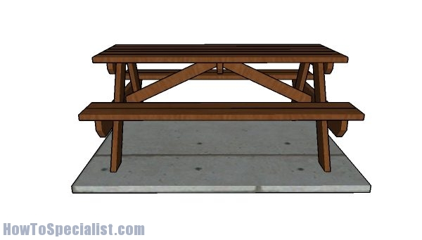 Brilliant 6 Picnic Table Plans Howtospecialist How To Build Step Theyellowbook Wood Chair Design Ideas Theyellowbookinfo