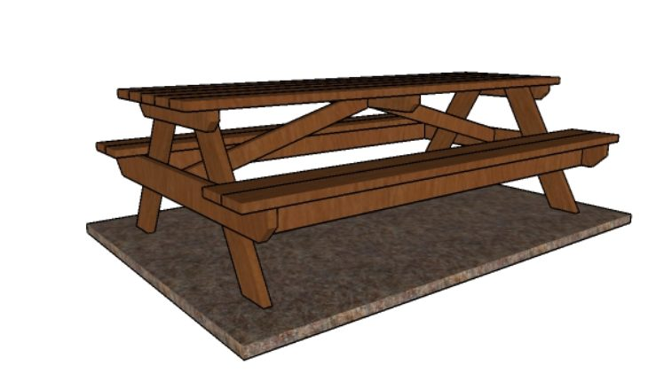 8 foot Picnic Table