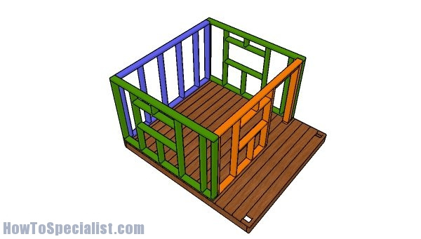 Assembling the playhouse frame