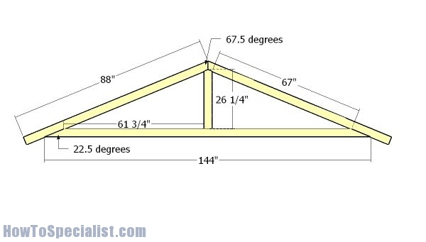 12x16 Garden Shed Plans | HowToSpecialist - How to Build ...