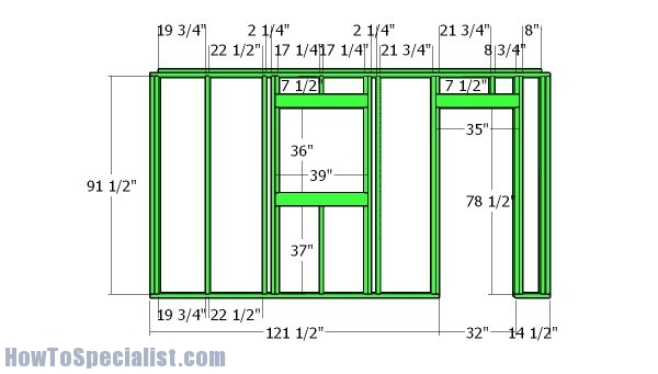 14x14 Shed Plans Howtospecialist How To Build Step By