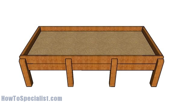 Counter height raised garden bed plans