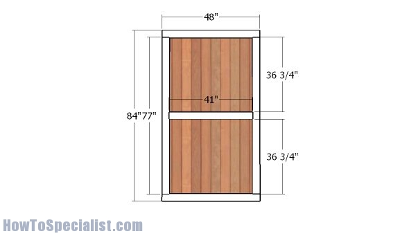 12x16 garden shed door and trims plans howtospecialist for Double door shed plans