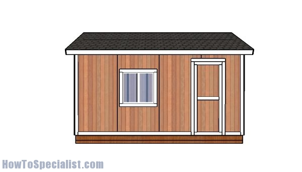 Free 12x16 shed plans - Side view