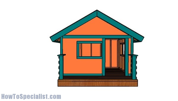 Kids playhouse plans - Front view