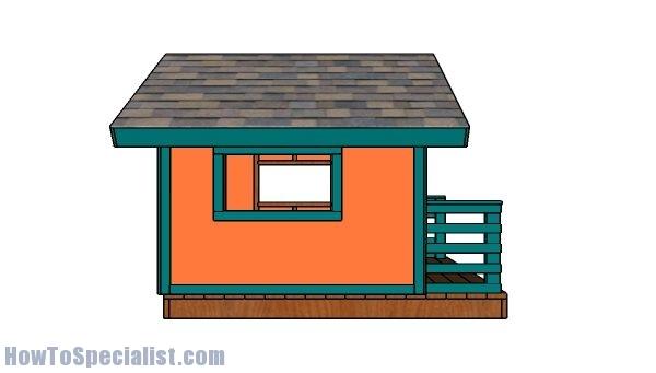 Kids playhouse plans - Side view