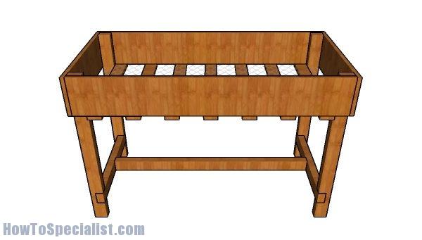 Waist high garden bed plans