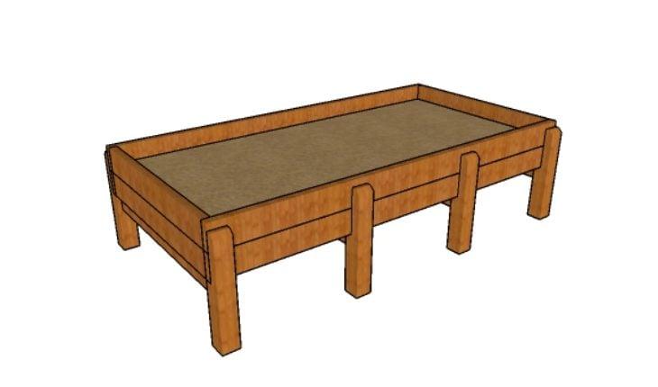 Waist high raised garden bed plans howtospecialist how - Waist high raised garden bed plans ...