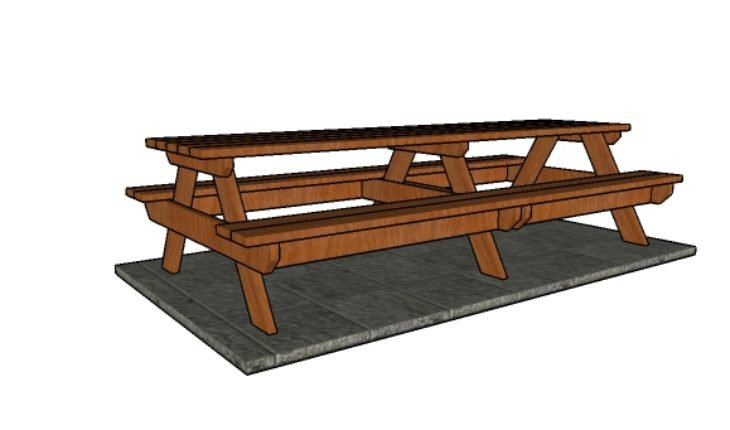 10 Picnic Table Plans Howtospecialist How To Build Step By