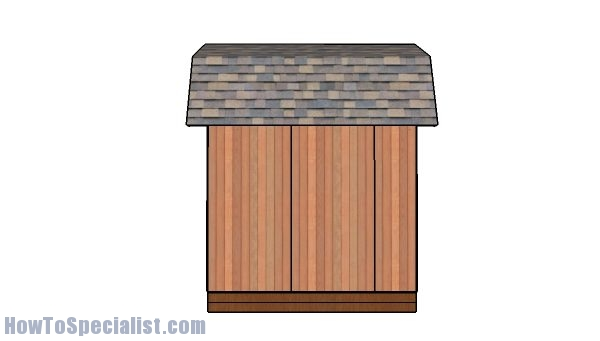 10x10 barn shed plans with loft - Side view