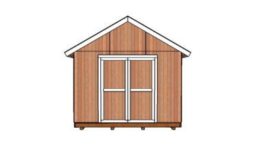 12x10 Shed Plans - front view