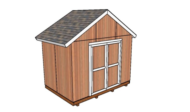 12x8 shed doors plans howtospecialist how to build for Double door shed plans