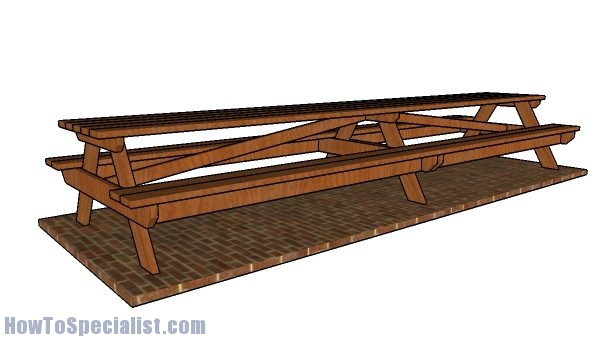 16 foot Picnic Table