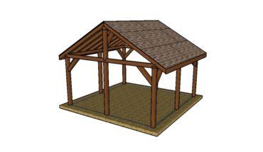 16x16 Pavilion Plans - DIY Step by step plans