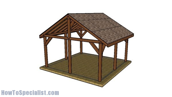 16x16 Pavilion Plans - DIY Step by step plans