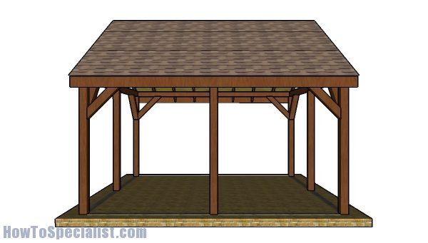 16x16 Pavilion Plans - Side view