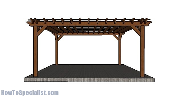 16x16 Pergola Plans - Step by Step - 16x16 Pergola Plans - Step By Step HowToSpecialist - How To Build