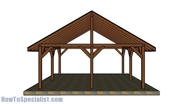 Do It Yourself Home Design: 20x20 Pavilion Roof - Step By Step Plans