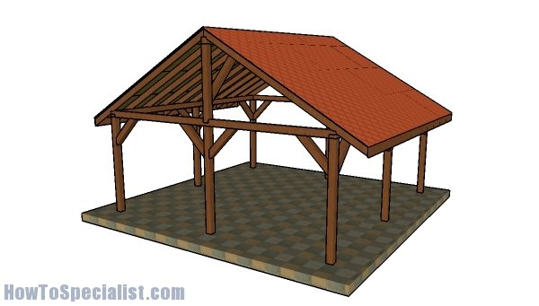 20x20 Pavilion - Free DIY Plans | HowToSpecialist - How to Build ...