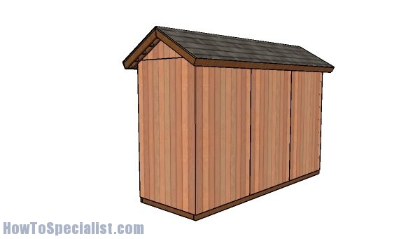 4x12 shed plans - back view
