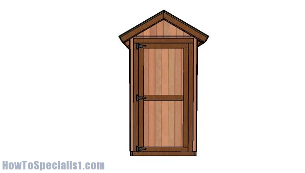 4x12 shed plans - front view