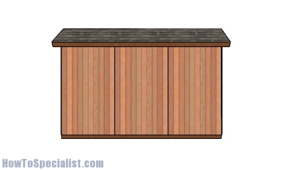 4x12 shed plans - side view