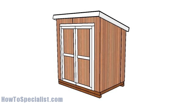 5x7 lean to shed plans howtospecialist how to build for Garden shed 5x7