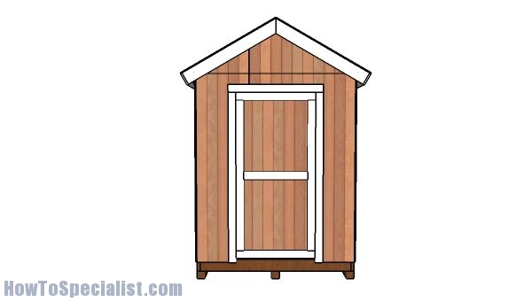 6x12 Shed Plans - Front view