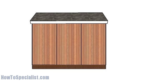 6x12 Shed Plans - side view