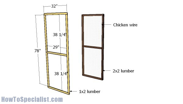 Assembling the door