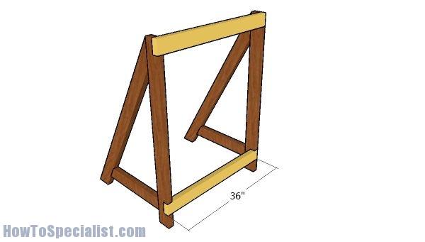 Assembling the frame of the trellis