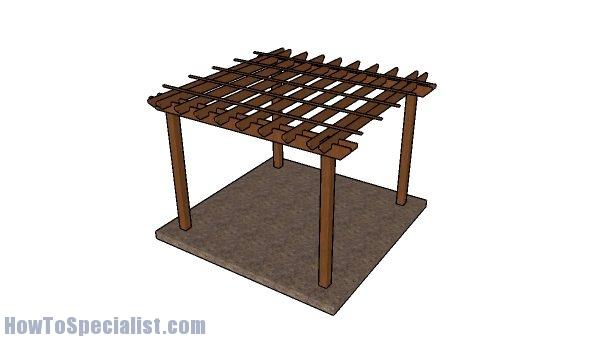 Building a 10x10 square pergola
