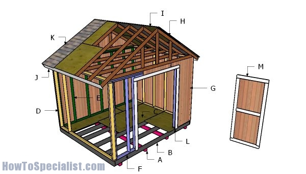12x10 Gable Shed Free Diy Plans Howtospecialist How To Build