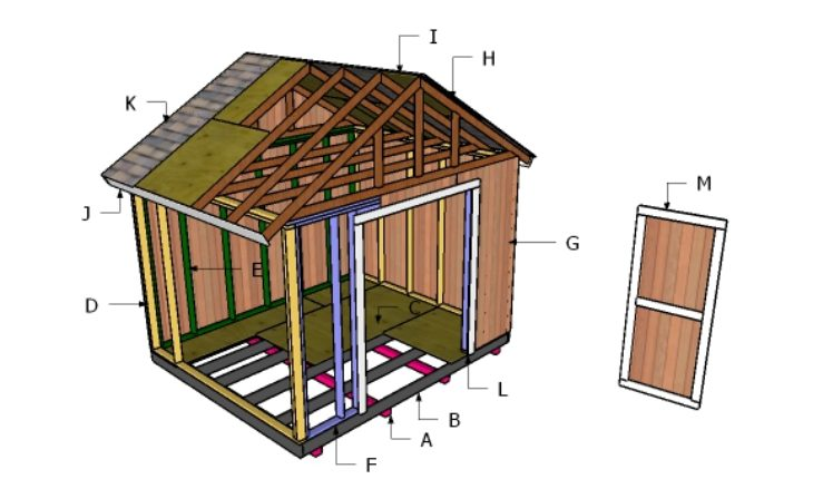 12x10 shed roof plans howtospecialist how to build for How to roof a house step by step