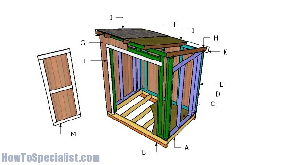 5x7 Lean To Shed Plans Howtospecialist How To Build Step By