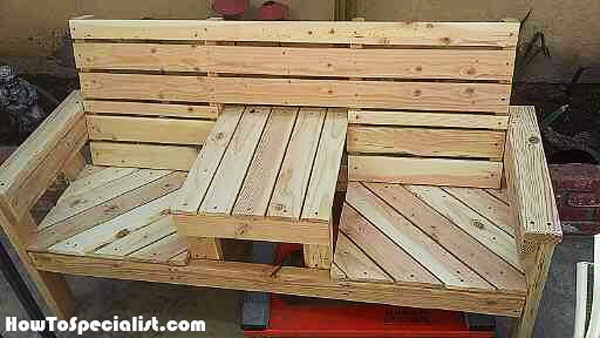 DIY Outdoor Bench with Table | HowToSpecialist - How to ...