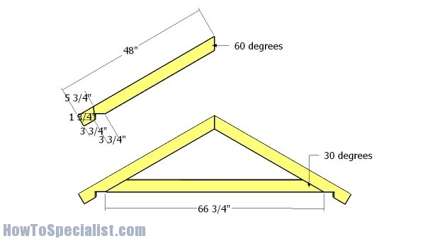 6x12 Gable Shed Roof Plans Howtospecialist How To