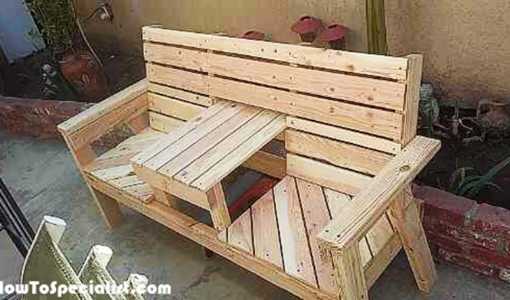 DIY Outdoor Bench With Table HowToSpecialist How To Build Step By Step D