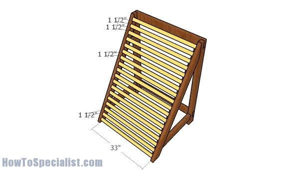 Fitting the horizontal slats