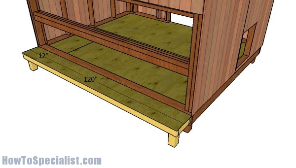 Floor for nesting boxes