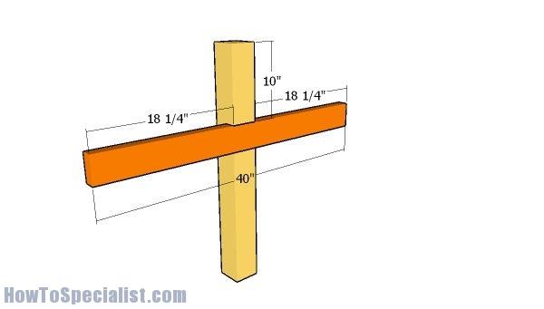 Horizontal to ridge support