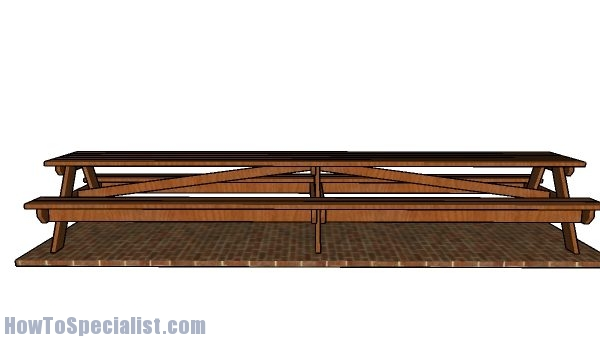 Large 16' Picnic Table Plans