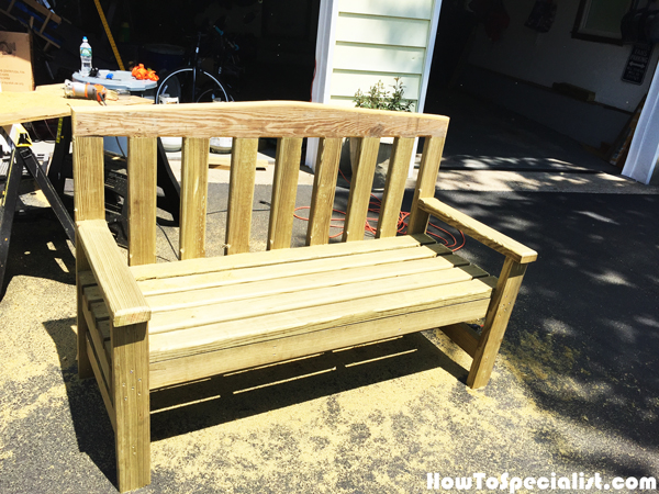 Diy Simple 2x4 Bench Howtospecialist How To Build Step By Step Diy Plans