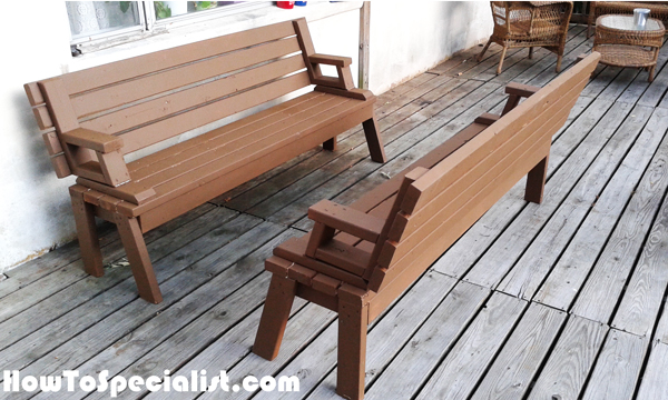 Building-a-folding-picnic-table-bench